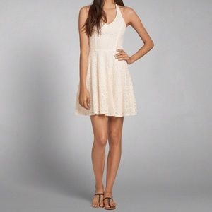 Abercrombie and Fitch Lace Cream Short Dress